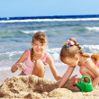 Children playing on beach. — Stock Photo #5735993