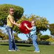 Stock Photo: Children playing in park.