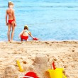 Children playing on beach. — Stock Photo #5736110