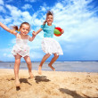 Children playing on beach. — Stock Photo #5736134