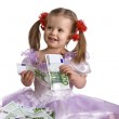 Money and child in dress. — Stock Photo