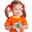 Happy child with money euro. — Stock Photo #5736261