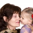 Happy family grandmother and granddaughter. — Stock Photo