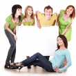 Royalty-Free Stock Photo: Group of take banner.