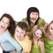 Cheerful group of young — Stockfoto
