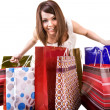 Girl with group of shopping bag . — Stock Photo