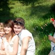 Family with children outdoor. — Foto de Stock