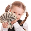 Happy child with money dollar. — Stockfoto #5737027