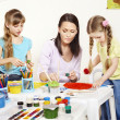 Child painting in preschool. — Stock Photo #5737610
