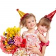 Children in party hat. — Stock Photo #5737758