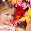 Royalty-Free Stock Photo: Cute child lying on the flower.