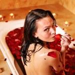 Woman relaxing in bath. — Stock Photo #5737908