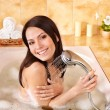 Royalty-Free Stock Photo: Woman take bubble  bath.