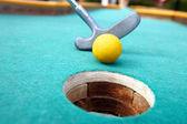 Golf stick and ball. — Stock Photo
