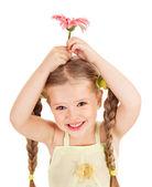 儿童举行花. — 图库照片
