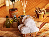 Spa stilleben med bambu. — Stockfoto
