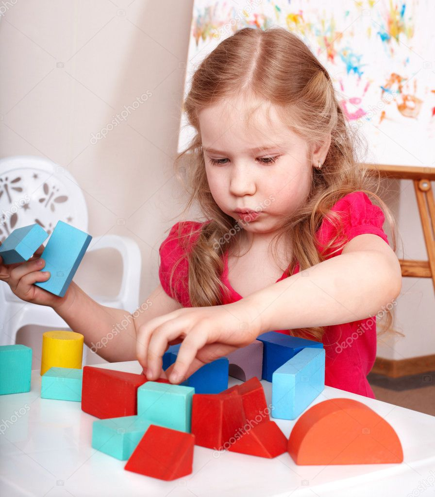 Child preschooler play wood block stock photo for Kid chat rooms 12 14