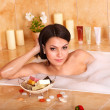 Woman take bubble bath. — Stock Photo #5846850