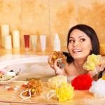 Woman take bubble bath. — Stock Photo #5908636