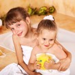 Kids washing in bath. — Stock Photo #5908655