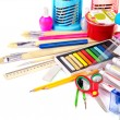 Foto Stock: Back to school supplies.