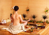 Bamboo massage at spa . — Foto de Stock
