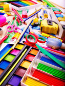 Background of school supplies. — Stock Photo