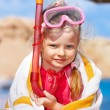 Child playing on beach. — Stock Photo #5972552