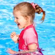 Child swimming in pool. — Stock Photo