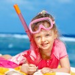 Child playing on beach. — Stock Photo #5972557