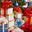 Christmas tree and group gift box. — Lizenzfreies Foto
