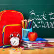 Back to school supplies. - Foto Stock