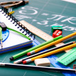 School office supplies . - Foto Stock