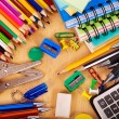 School office supplies. - Zdjęcie stockowe