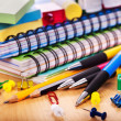Stockfoto: School office supplies.