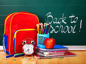 Back to school supplies. — Foto Stock