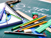 School office supplies . — Foto de Stock