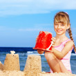 Child playing on beach. — Stock Photo #6101747