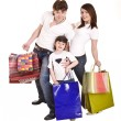 Happy family and child shopping. — Stock Photo #6101824