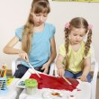 Child painting in preschool. — Stock Photo #6102136