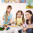 Child painting in preschool. — Stock Photo #6102139