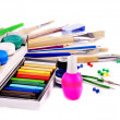Stock Photo: School art supplies