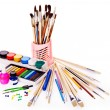 School art supplies — Foto Stock