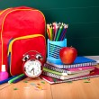 Back to school supplies. — Stockfoto