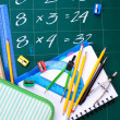 Stock Photo: Multiplication table on board