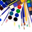 School art supplies — Stock Photo