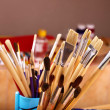 Stock Photo: Close up of art supplies.