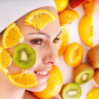 Royalty-Free Stock Photo: Natural homemade fruit  facial masks .