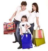 幸せな家族や子のショッピング. — ストック写真
