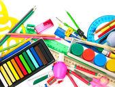 Sfondo di materiale scolastico. — Foto Stock